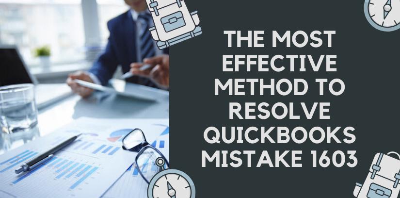 How to Fix QuickBooks Error 1603?